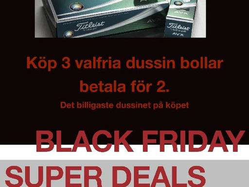 """Black Friday"" på Älvkarleby Golfklubb"